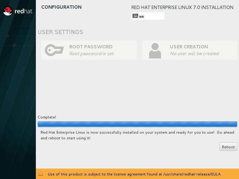 """第12步:等待安装完成后点击""""Reboot""""。"""