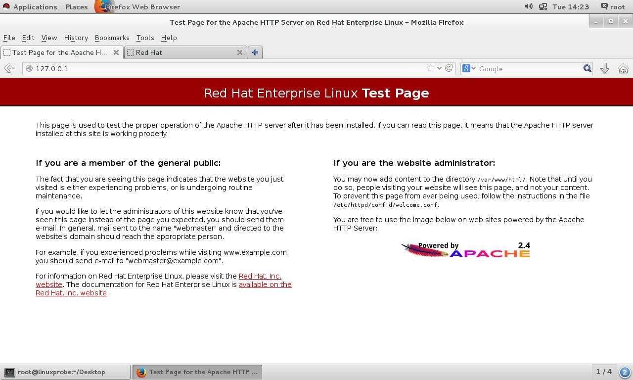Apache默认页面