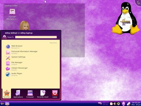 Hannah-Montana-Linux
