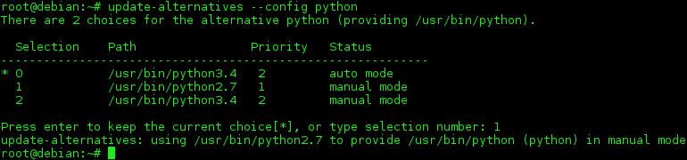 Debian中如何切换默认Python版本Debian中如何切换默认Python版本