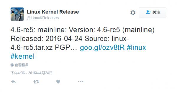 Linux Kernel 4.6 RC 5