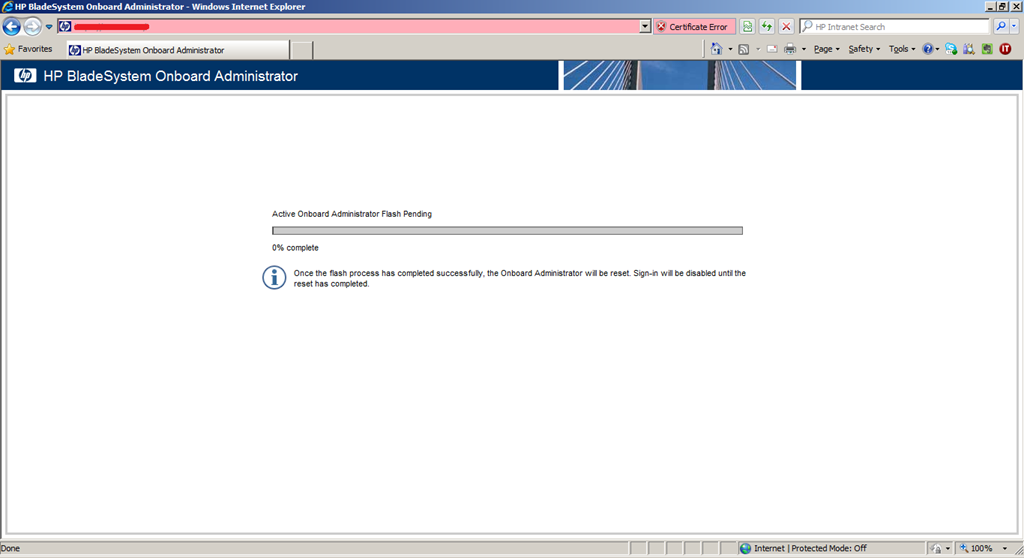 hp onboard administrator firmware download 4.60