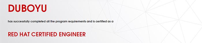 捷讯:杜博宇5月3日上海高分通过RHCE认证。