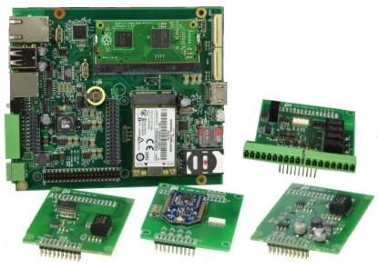 用树莓派计算模块搭建的工业单板计算机