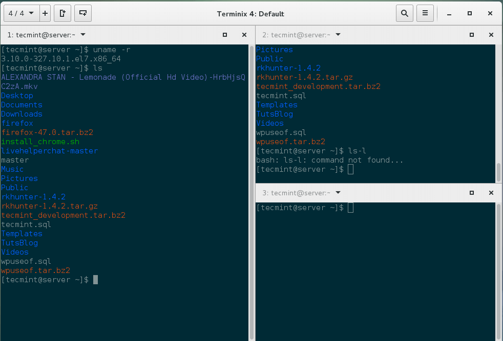 Terminix:一个很赞的基于 GTK3 的平铺式 Linux 终端模拟器