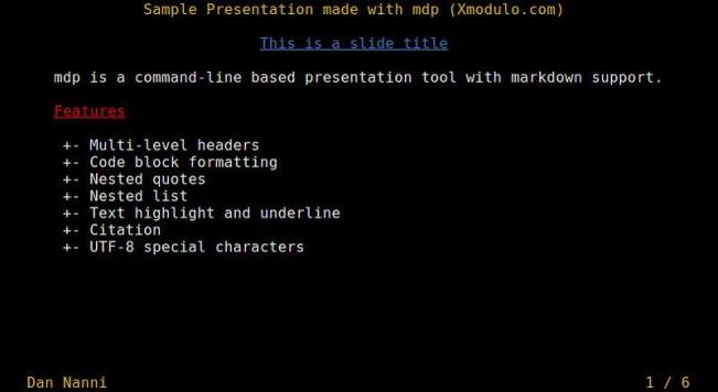 如何在Linux命令行中创建以及展示演示稿