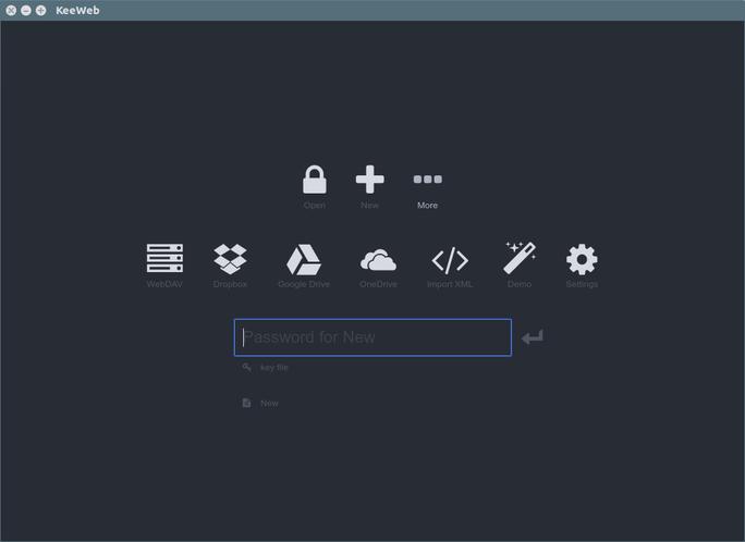 Linux 下的密码管理器:Keeweb