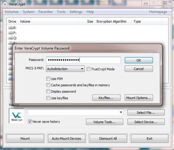 用 VeraCrypt 加密闪存盘