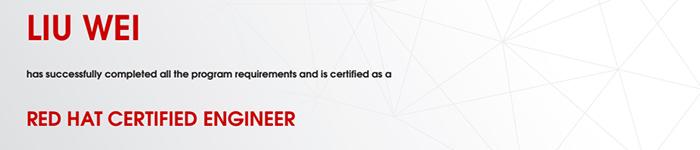 捷讯:刘伟9月14日上海顺利通过RHCE认证。