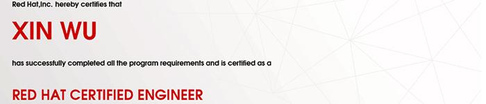 捷讯:吴昕9月2日上海顺利通过RHCE认证。