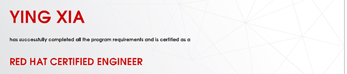 捷讯:夏颖9月14日上海顺利通过RHCE认证。
