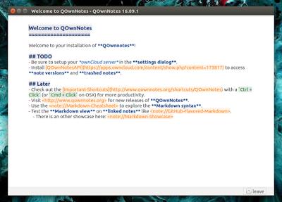 QOwnNotes:一款记录笔记和待办事项的应用,集成 ownCloud 云服务