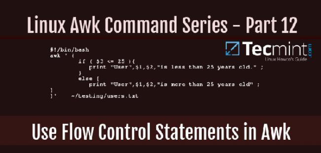 awk系列:在awk中如何使用流程控制语句