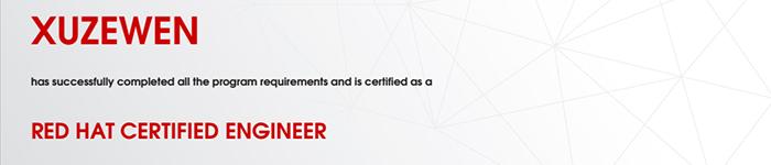 捷讯:徐泽文10月29日北京顺利通过RHCE认证。