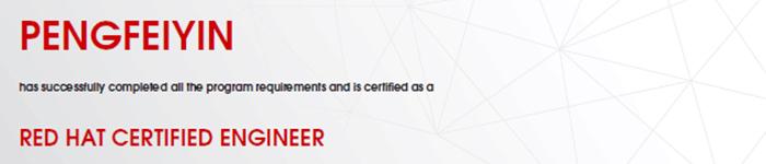 捷讯:殷鹏飞10月29日上海顺利通过RHCE认证。