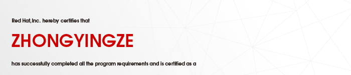 捷讯:钟应泽10月17日深圳顺利通过RHCE认证。