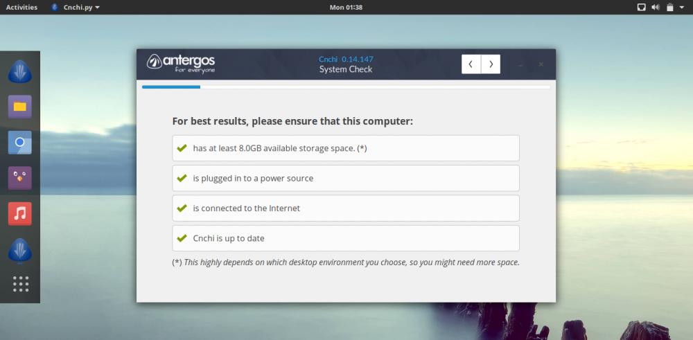 Antergos:基于 Arch 发行版Antergos:基于 Arch 发行版