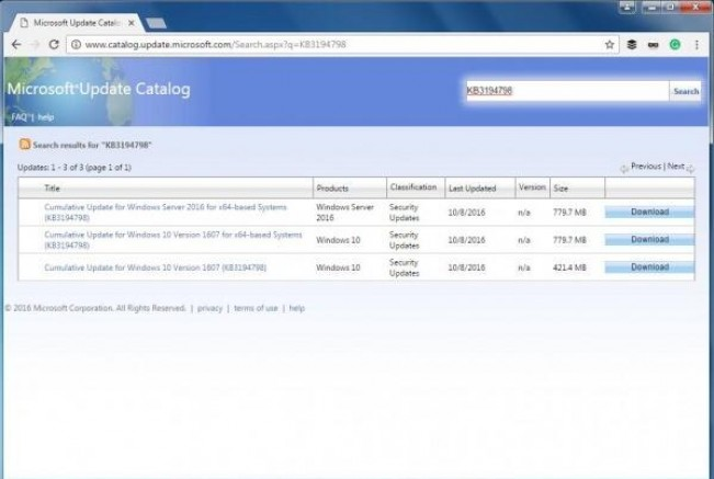 微软允许 Chrome 和 Firefox 访问更新目录网站