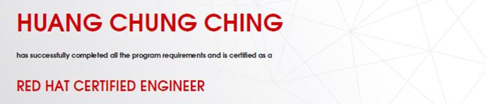 捷讯:黄重庆11月7日台湾顺利通过RHCE认证。