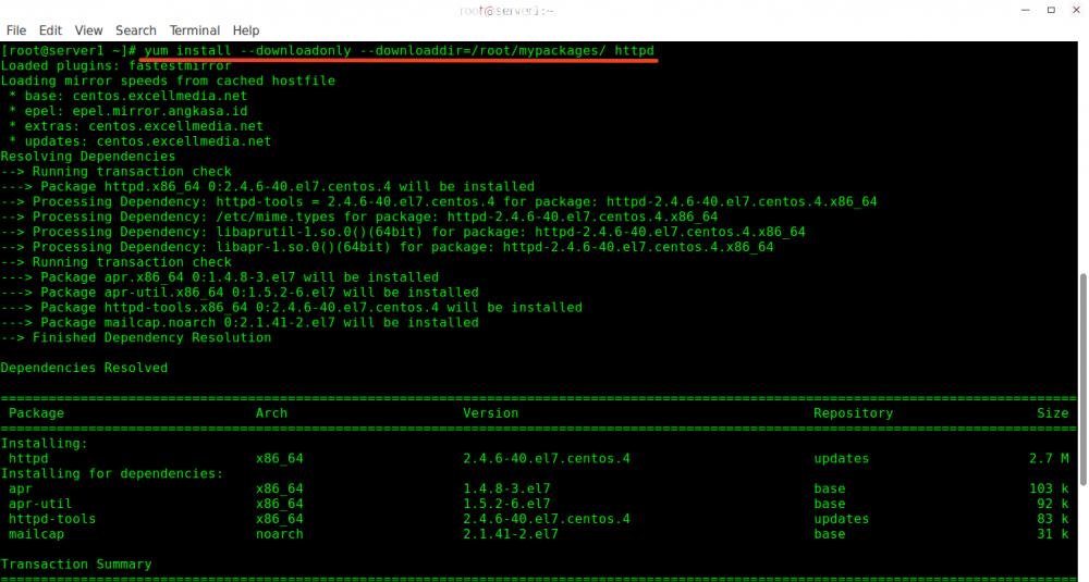 怎样在 CentOS 里下载 RPM 包及其所有依赖包
