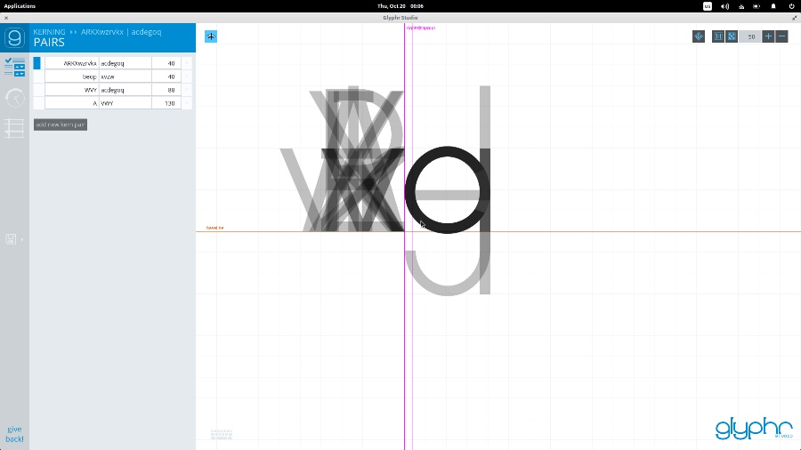 在 Linux 上使用 Glyphr 设计自己的字体