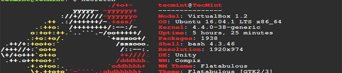 带发行版 Logo 的系统信息显示工具