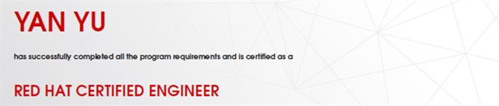 捷讯:闫宇12月31日北京顺利通过RHCE认证。