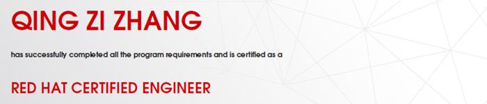 捷讯:张庆滋12月31日深圳顺利通过RHCE认证。