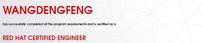 捷讯:王登峰1月23日北京顺利通过RHCE认证。