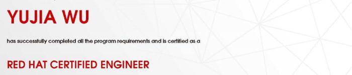 捷讯:吴裕佳1月10日广州顺利通过RHCE认证。