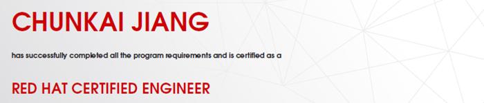 捷讯:蒋春恺1月15日上海顺利通过RHCE认证。