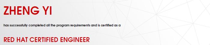 捷讯:郑毅1月24日北京顺利通过RHCE认证。