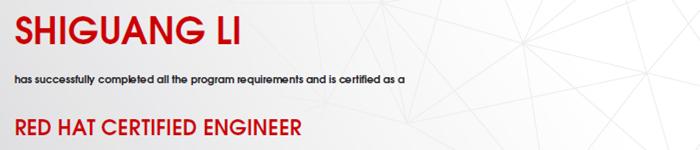 捷讯:李世光2月28日上海顺利通过RHCE认证。