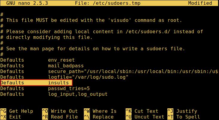 """让 sudo 在你输入错误的密码时""""嘲讽""""你"""