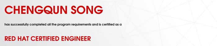 捷讯:宋成群2月28日上海顺利通过RHCE认证。