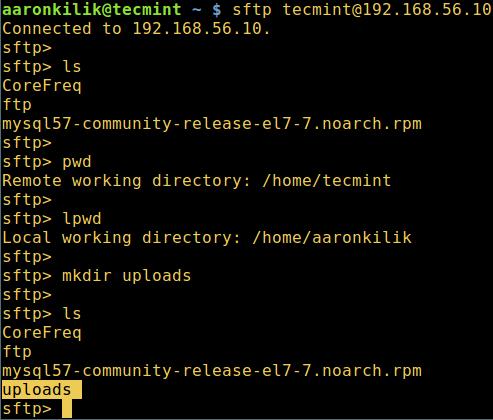 如何在 Linux 中使用 sFTP 上传或下载文件与文件夹