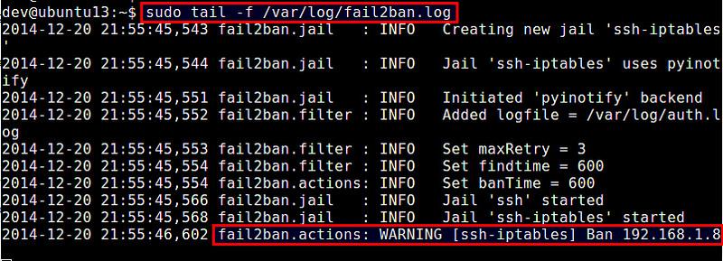 如何使用 fail2ban 防御 SSH 服务器的暴力破解攻击