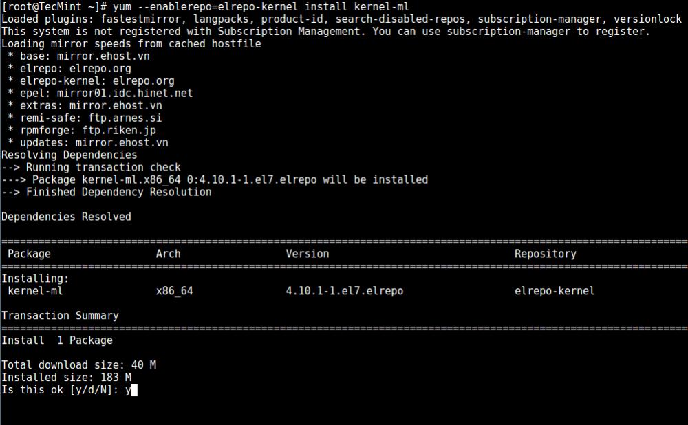 如何在 CentOS 7 中安装或升级最新的内核