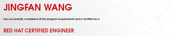 捷讯:王景繁3月27日北京顺利通过RHCE认证。