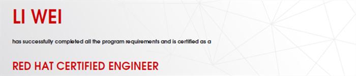 捷讯:李伟3月27日深圳顺利通过RHCE认证。
