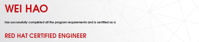 捷讯:韦浩3月30日上海顺利通过RHCE认证。