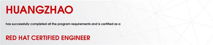 捷讯:黄钊4月28日广州顺利通过RHCE认证。