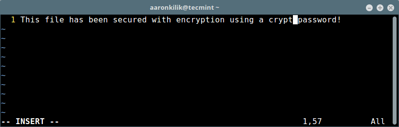 怎样在 Linux 中用 Vim 对文件进行密码保护
