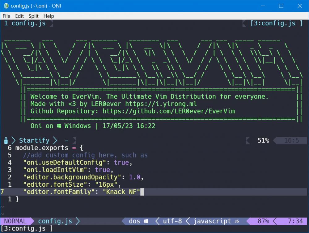 EverVim 20170523 改善 Window 下安装&使用 - 开源中国社区