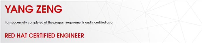 捷讯:曾洋5月18日四川顺利通过RHCE认证。