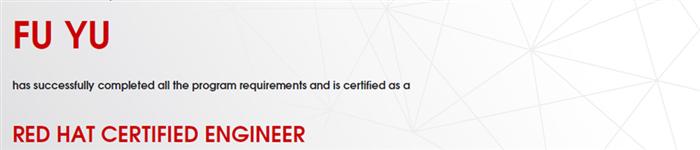 捷讯:付宇5月4日上海顺利通过RHCE认证。