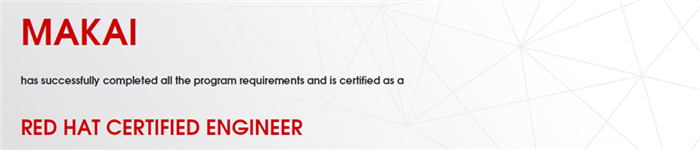 捷讯:马楷5月4日上海顺利通过RHCE认证。