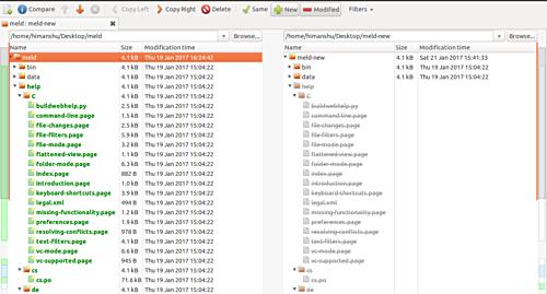如何在Linux上使用Meld比较文件夹