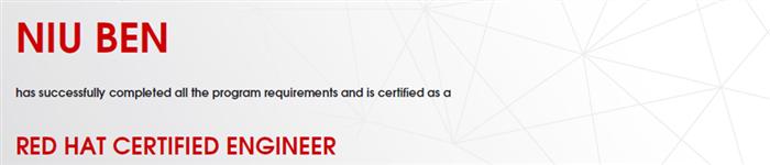 捷讯:牛犇6月14日北京顺利通过RHCE认证。