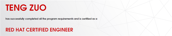 捷讯:左腾6月8日深圳顺利通过RHCE认证。